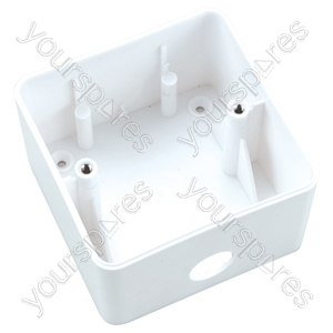 Eagle Surface Mount Attenuator Back Box White