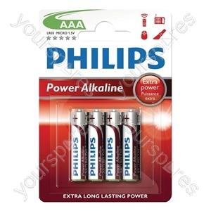 Philips Power Alkaline Batteries - Type AAA