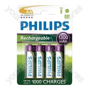 Philips Rechargeable Batteries (4 Pk)