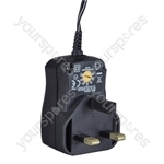 Multi-Voltage 600ma Regulated Switch Mode Power Supply UK Plug