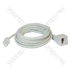 Telephone Extension Lead (BT Plug to BT Socket) - Length (m) 3