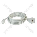 Telephone Extension Lead (BT Plug to BT Socket) - Length (m) 10