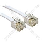 Electrovision White RJ11-RJ11 ADSL MODEM CABLE - Length (m) 2
