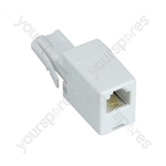 UK/US Adaptor to Convert a US RJ11 Plug into a UK BT Plug