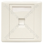 RJ45 Shuttered Outlet Plate With Screws