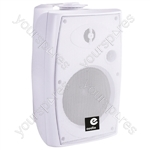 E-Audio 60w Active Wall Mounted Speakers with Bluetooth 4.0 - Colour White