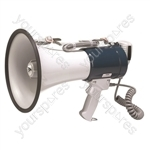 Eagle Handheld Megaphone With Pistol Grip and Fist Microphone 35 W