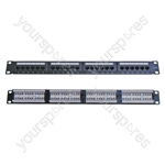 "Eagle 1U 19"" 24 Port Cat5e Patch Panel"
