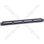 "Eagle 1U 19"" 24 Port Cat6 Patch Panel"