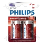 Philips Power Alkaline Batteries - Type D