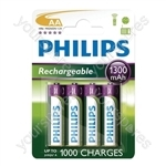 Philips Rechargeable Batteries (4 Pk)