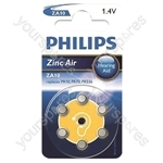 Philips Hearing Aid Battery 6 Pack - Type ZA10