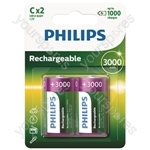 Philips Rechargeable Batteries (4 Pk) - Type C
