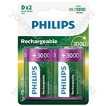 Philips Rechargeable Batteries (4 Pk) - Type D
