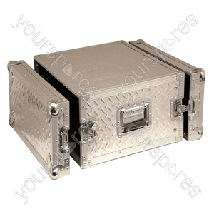 Full Flight Rack Case With Front/Back Doors - Rack Size 6U