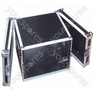 Full Flight Rack Case with Front/Back Doors - Rack Size 8U