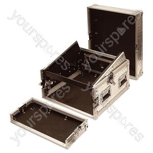 Full Flight Rack Case with 10U Mixer Top - Rack Size 8U