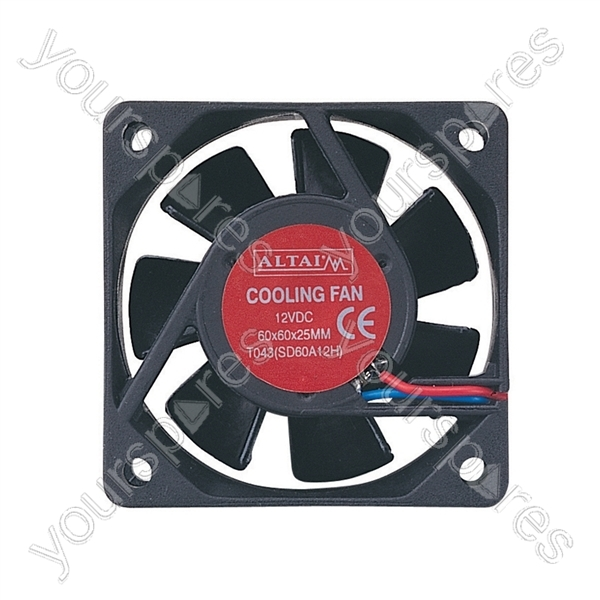 12 Axial Fan : V dc axial flow fan size mm t a by