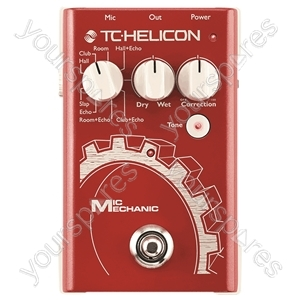 TC HELICON Mic Mechanic Reverb, Delay and Correction Stompbox