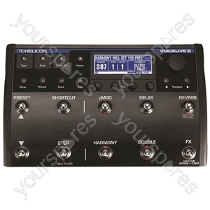 TC HELICON VoiceLive 2 With VLOOP - Vocal Harmony and Effects Pedal