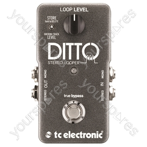 tc electronic Ditto Stereo Looper - Ditto Looper With Stereo I/O and Back Tracking