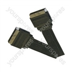 Standard Flat Profile Scart Plug  to Scart Plug TV and Video Lead