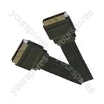 Standard Flat Profile Scart Plug  to Scart Plug TV and Video Lead