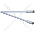 Standard F Type Plug to F Type Plug TV and Video Lead White - Lead Length (m) 2