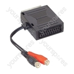 Scart Adaptor with 2 Phono Socket Leads