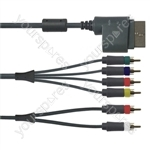 X-Box 360 Connector to 6 Phono Component HD AV Cable with Optical Output Gaming Lead