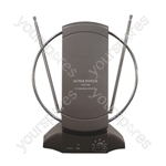 Wideband Digital DVB-T Indoor TV & Radio Antenna with Amplifier