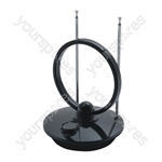 Digital DVB-T Indoor TV & Radio Antenna With Low Signal Amplifier