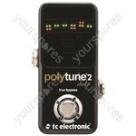 tc electronic PolyTune 2 Noir - Polyphonic Chromatic Tuner