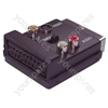 Scart Adaptor with Scart Plug/Socket and Phono/SVHS Socket