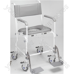 "Aquamaster (A06) Attendant Propelled Shower Commode Chair - Size Seat Width: 445 (17"")"