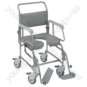 """Transaqua (TA6) Attendant Propelled Shower Commode Chair - Size 21"""""""