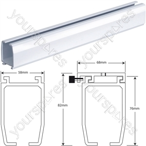 Wispa Hoist Ceiling Track - Size Length: 2.5 m