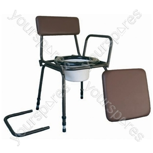 Surrey Height Adjustable Commode Chair with Detachable Arms