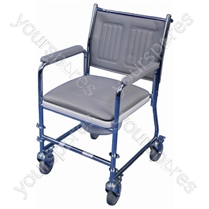 Linton Mobile Wheeled Commode - Configuration Without Footrests