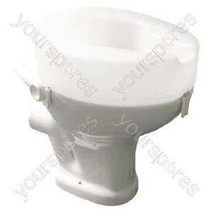 "Ashby Raised Toilet Seat - Size Seat Height: 50 mm (2"")"