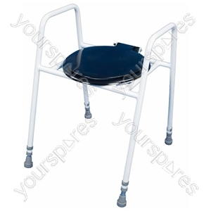 Solo Skandia Raised Toilet Frame with Seat and Lid - Configuration Free Standing with Splash Guard