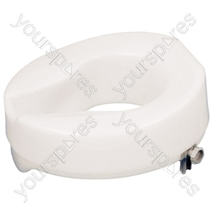 "Ashby Easy Fit Raised Toilet Seat - Size Seat Height: 50 mm (2"")"