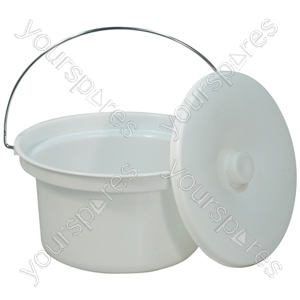 5 L Commode Bucket and Lid