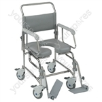 Transaqua (TA6) Attendant Propelled Shower Commode Chair - Size 21""