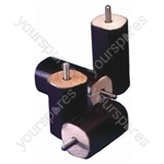 Set of 4 Screw Fixing Bed Raisers - Size Height: 75 mm