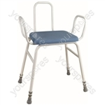 Astral Perching Stool - Configuration Perching Stool with Arms and Plain Back