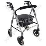 Aidapt Lightweight 4 Wheeled Rollator - Colour Silver