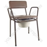 Kent Stacking Commode Chair - Colour Brown
