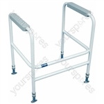 Ashford Height Adjustable Toilet Frame - Configuration Floor Fixed