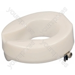 "Ashby Easy Fit Raised Toilet Seat - Size Seat Height: 100 mm (4"")"
